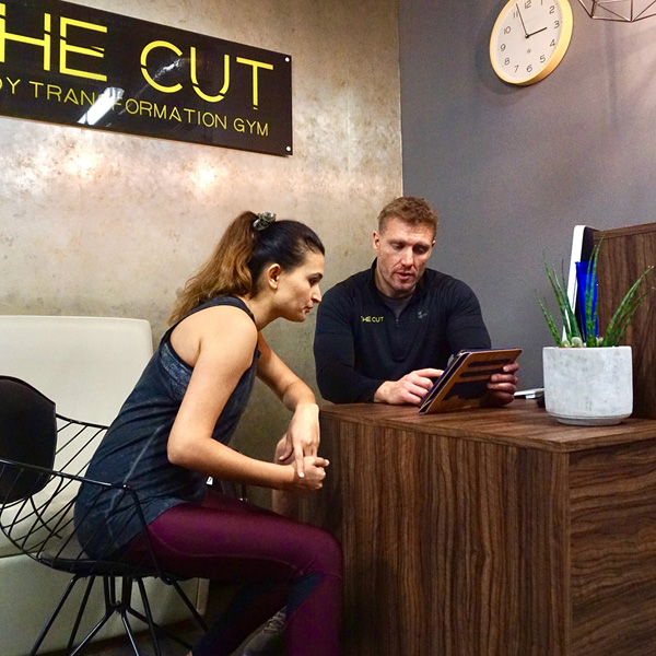 Personal training programme at the Cut Gym London