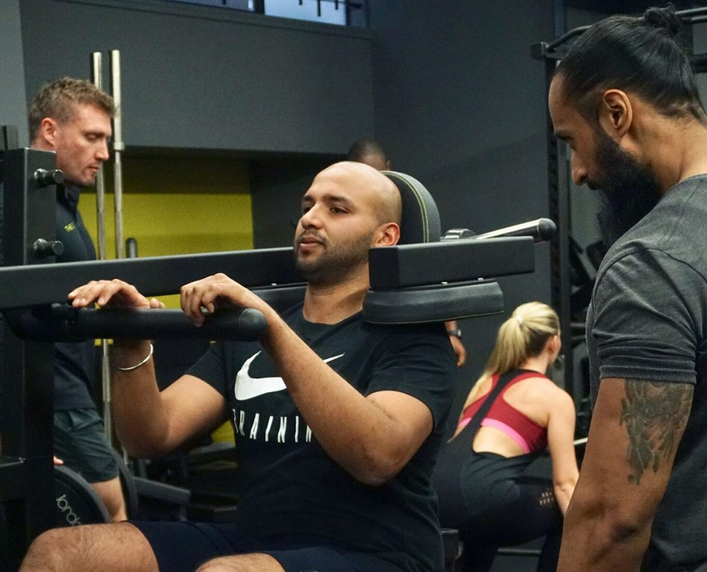Personal training at the Cut Gym London