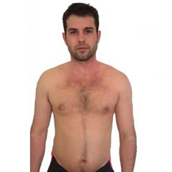 Ben's body transformation in just 12 weeks at The Cut Gym London before photo