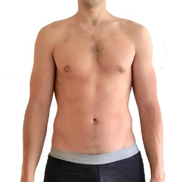 Geoff's body transformation at The Cut Gym London before