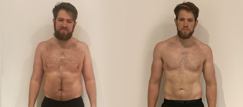 Fat loss transformation