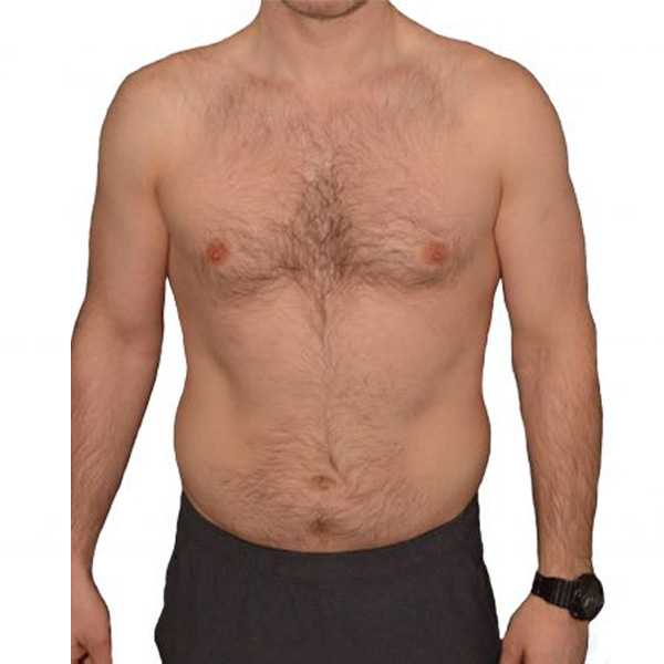 Michael's body transformation programme at The Cut Gym in Bank, London. Before